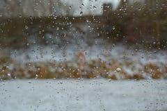 βροχή γυαλιού απελευθ&e στοκ εικόνες