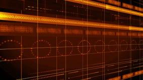 ΒΡΌΧΟΣ υποβάθρου 4K τεχνολογίας κύκλων γραμμών αριθμών διανυσματική απεικόνιση