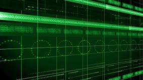ΒΡΌΧΟΣ υποβάθρου 4K τεχνολογίας κύκλων γραμμών αριθμών απεικόνιση αποθεμάτων