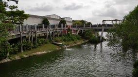 Γέφυρα ανατολής που βρίσκεται σε Punggol, Σιγκαπούρη στοκ εικόνες