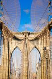Γέφυρα του Μπρούκλιν στην πόλη της Νέας Υόρκης, Νέα Υόρκη στοκ εικόνες με δικαίωμα ελεύθερης χρήσης