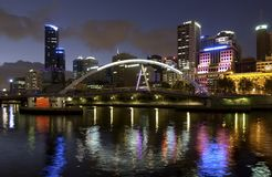 Γέφυρα περιπατητών του Evan - Μελβούρνη - Αυστραλία στοκ φωτογραφία με δικαίωμα ελεύθερης χρήσης