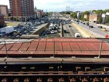 Γέφυρα Triborough, Robert Φ Γέφυρα Kennedy, γέφυραtheRFK Triborough, γέφυραtheRFK, theRFK, Astoria, βασίλισσες, NYC, Νέ στοκ εικόνες