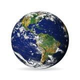 Γήινη σφαίρα που απομονώνεται στο άσπρο υπόβαθρο με τη σκιά Στοιχεία αυτής της εικόνας που εφοδιάζεται από τη NASA - διάνυσμα ελεύθερη απεικόνιση δικαιώματος