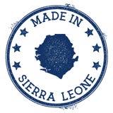 γίνοντας στο γραμματόσημο του Sierra Leone διανυσματική απεικόνιση