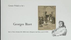 Γαλλικός συνθέτης Georges Bizet στοκ φωτογραφίες