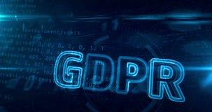 Γενικός βρόχος κανονισμού προστασίας δεδομένων GDPR διανυσματική απεικόνιση