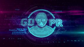 Γενικός κανονισμός προστασίας δεδομένων GDPR διανυσματική απεικόνιση