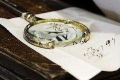 γεωμετρικός παλαιός τρύγος εγγράφου διακοσμήσεων ανασκόπησης Πολύ παλαιά μάνδρα επιστολών και καλαμιών στοκ φωτογραφίες με δικαίωμα ελεύθερης χρήσης