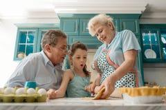 Γιαγιά που κατασκευάζει μια εύγευστη πίτα στοκ εικόνες με δικαίωμα ελεύθερης χρήσης