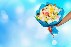 Γλυκιά ανθοδέσμη της καραμέλας Δώρο διακοπών στοκ εικόνα με δικαίωμα ελεύθερης χρήσης