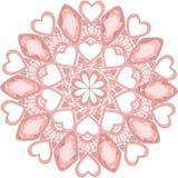 γλυκιά διακόσμηση mandala πολύτιμων λίθων για το σχέδιο Ιστού στοκ φωτογραφία με δικαίωμα ελεύθερης χρήσης