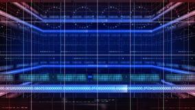 Γραμμή 360 αριθμών βρόχος υποβάθρου 4K τεχνολογίας κύκλων περιστροφής διανυσματική απεικόνιση