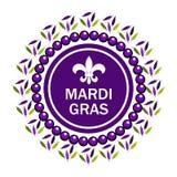 Γραμματόσημο εορτασμού της Fleur de lis Διανυσματική απεικόνιση της Mardi Gras Σχέδιο κομμάτων της Mardi Gras Mardi Gras Καρναβάλ διανυσματική απεικόνιση