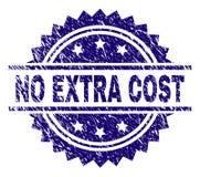 Γρατσουνισμένος κατασκευασμένος ΚΑΜΙΑ ΠΡΟΣΘΕΤΗ σφραγίδα γραμματοσήμων δαπανών διανυσματική απεικόνιση