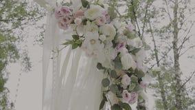 Εγγραφή της εγγραφής εξόδων, sheaf μήλων λουλούδια σανού απόθεμα βίντεο
