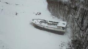Εγκαταλείψτε το από την Αλάσκα αλιευτικό σκάφος απόθεμα βίντεο