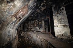 εγκαταλειμμένοι διάδρομοι της μετα σοβιετικής βάσης έναρξης πυραύλων στη Λετονία στοκ φωτογραφία