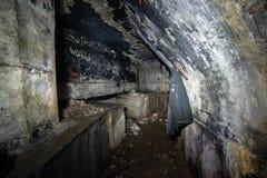 εγκαταλειμμένοι διάδρομοι της μετα σοβιετικής βάσης έναρξης πυραύλων στη Λετονία στοκ εικόνα