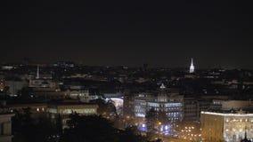Εικονική παράσταση πόλης νύχτας της Μαδρίτης, Ισπανία απόθεμα βίντεο