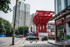 Εικονική παράσταση πόλης Chengdu, Κίνα στοκ εικόνες