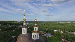 Εκκλησία στο παλαιό χωριό απόθεμα βίντεο