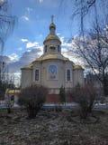 Εκκλησία του ιερού πνεύματος της ουκρανικής Ορθόδοξης Εκκλησίας του Πατριαρχείου της Μόσχας στοκ εικόνες