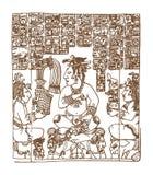 Εκλεκτής ποιότητας γραφικό maya glyphs, inca και των Αζτέκων zodiac διακοσμήσεις και σύμβολα στο παλαιό αμερικανικό ινδικό ύφος δ απεικόνιση αποθεμάτων