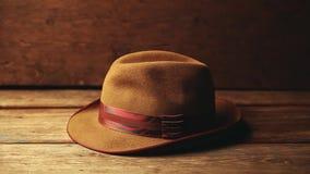 Εκλεκτής ποιότητας μήκος σε πόδηα υποβάθρου καπέλων ξύλινο hd απόθεμα βίντεο