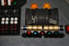 Εκλεκτής ποιότητας πίνακας ελέγχου με τα κουμπιά και τους μοχλούς για το comics στοκ εικόνα