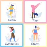 Ελκυστικός υπέρβαρος υγιής τρόπος ζωής γυναικών ελεύθερη απεικόνιση δικαιώματος