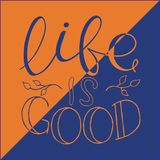 Εμπνευσμένο απόσπασμα καλλιγραφίας Κίνητρο για τη ζωή και την ευτυχία διανυσματική απεικόνιση