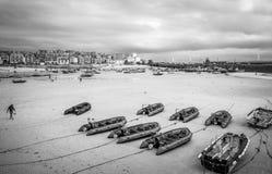 Εναέρια άποψη άνω του ST Ives - μια όμορφη και διάσημη πόλη στην Κορνουάλλη - την ΚΟΡΝΟΥΆΛΛΗ, ΑΓΓΛΊΑ - 12 ΑΥΓΟΎΣΤΟΥ 2018 στοκ εικόνες