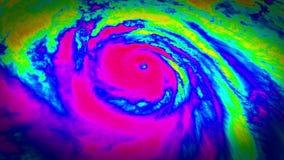 Εναέρια άποψη καιρικών δορυφόρων ραντάρ τυφώνα φιλμ μικρού μήκους