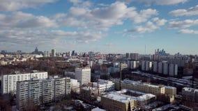 Εναέρια εικονική παράσταση πόλης πυροβολισμού πόλεων της Μόσχας φιλμ μικρού μήκους