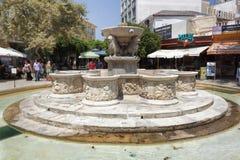Ενετική πηγή στο τετράγωνο Ηρακλείου στοκ φωτογραφία με δικαίωμα ελεύθερης χρήσης