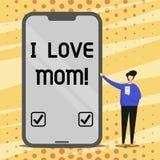 Εννοιολογικό χέρι που γράφει παρουσιάζοντας αγάπη Mom Ι Καλά συναισθήματα κειμένων επιχειρησιακών φωτογραφιών για την ευτυχία αγά ελεύθερη απεικόνιση δικαιώματος