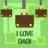 Εννοιολογικό χέρι που γράφει παρουσιάζοντας μπαμπά αγάπης Ι Καλά συναισθήματα κειμένων επιχειρησιακών φωτογραφιών για την ευτυχία απεικόνιση αποθεμάτων