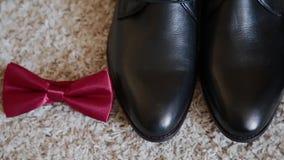 Εξαρτήματα ατόμων, μανικετόκουμπα παπουτσιών πεταλούδων και ζώνη φιλμ μικρού μήκους