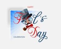Εορτασμός της ημέρας των ανόητων απεικόνιση αποθεμάτων