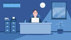 Εργασία στο γραφείο Απεικόνιση τέχνης ελεύθερη απεικόνιση δικαιώματος