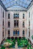 Εσωτερική άποψη του εσωτερικών προαυλίου και του κήπου της Isabella Stewart Gardner Museum στη Βοστώνη στοκ εικόνα