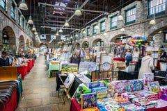 Εσωτερική αγορά Tavistock - αρχαία αγορά Pannier - που λαμβάνεται σε Tavistock, Devon, UK στοκ φωτογραφία με δικαίωμα ελεύθερης χρήσης