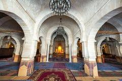Εσωτερικό του μεγάλου μουσουλμανικού τεμένους σε Sousse, Τυνησία στοκ φωτογραφία με δικαίωμα ελεύθερης χρήσης