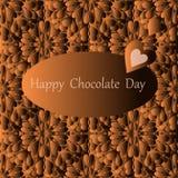 Ευτυχής ημέρα σοκολάτας, διανυσματική κάρτα απεικόνιση αποθεμάτων