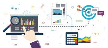 Επένδυση στο χρηματιστήριο, ανάλυση με την έκθεση αποδοχών στοκ εικόνα