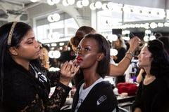 Επίδειξη μόδας ανδρών και γυναικών του Romeo Hunte ως τμήμα της εβδομάδας μόδας της Νέας Υόρκης στοκ φωτογραφίες