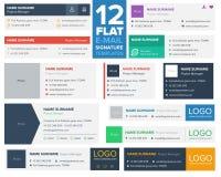 12 επίπεδα και σύγχρονα πρότυπα υπογραφών ηλεκτρονικού ταχυδρομείου ελεύθερη απεικόνιση δικαιώματος
