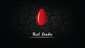 Επαγγελματική κάρτα για το στούντιο καρφιών ελεύθερη απεικόνιση δικαιώματος