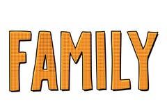 Επιγραφή οικογενειακών κειμένων διανυσματική απεικόνιση